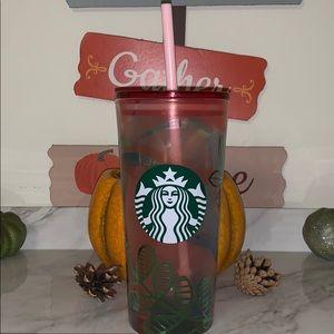 Starbucks floral glass tumbler